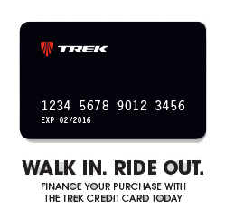 Finance your new bicycle, clothing and accessoiries with the Trek Card!
