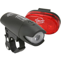 Planet Bike Beamer 1 & Blinky 3 Light Set