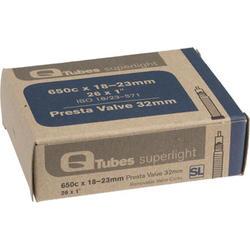 Q-Tubes Superlight Tube (26 x 1 inch, Presta Valve) (650C)