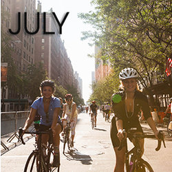 Bicycle Habitat Rentals for July