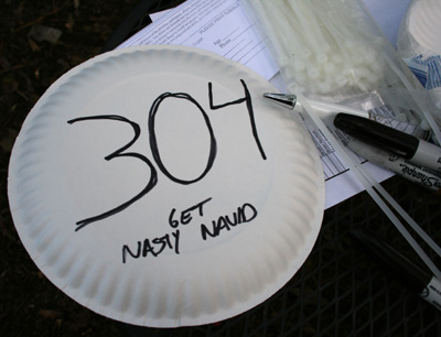 Nothing better than the paper plate numbering system!