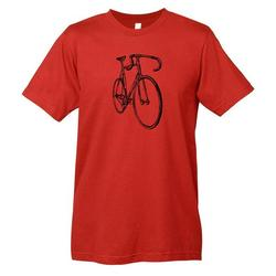Mechanical Threads Bike Sketch T-Shirt Red