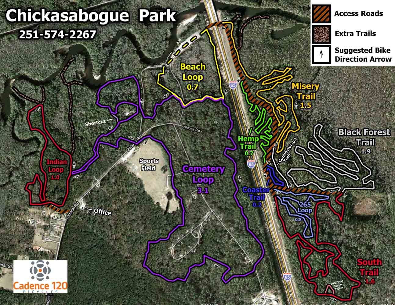 Chickasabouge Park - Mountain Bike Trails