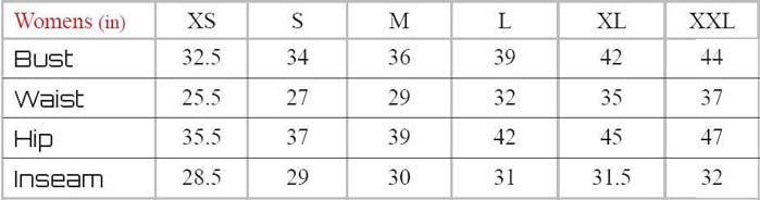 Sugoi Sizing Chart