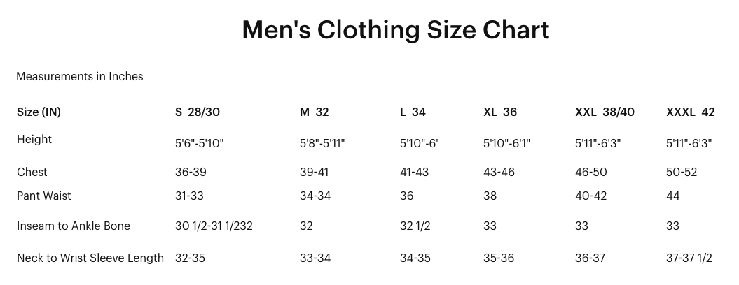 Sizing