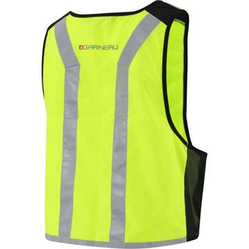 The back of Garneau's Hi Viz Vest.
