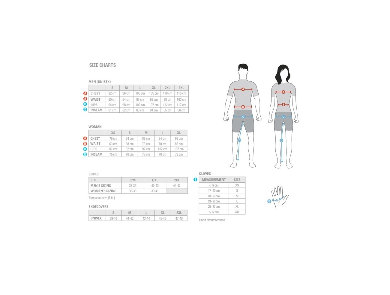 3T apparel sizing chart
