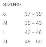 Giro Blaze Shoe Cover Size Chart