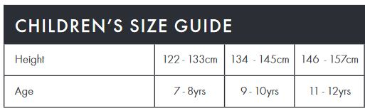 Endura Kid's size guide