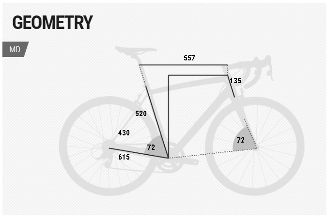 BH Easy Go Race geometry chart