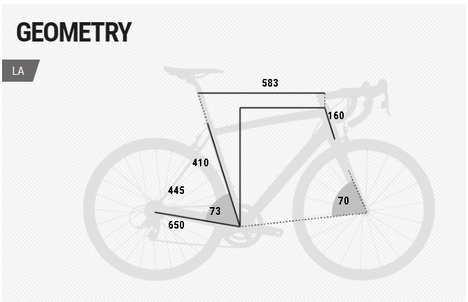 BH Evo Ecolite geometry chart