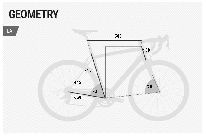 BH Evo Street geometry chart