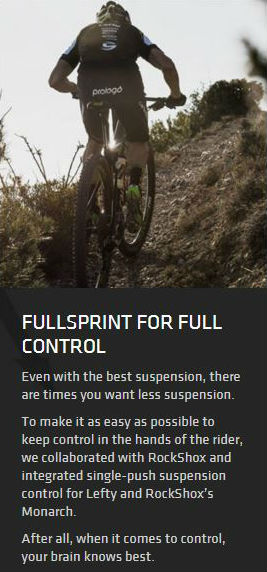 Cannondale's single-push suspension control