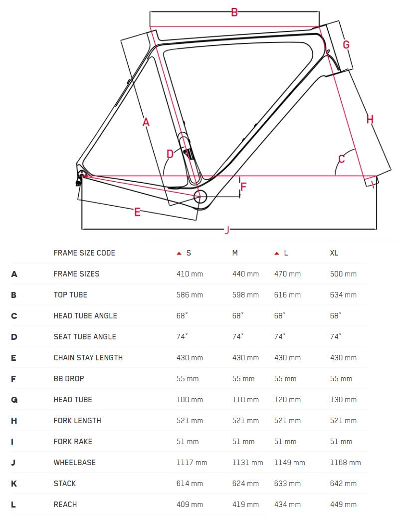 Focus Bold SL Geometry Chart