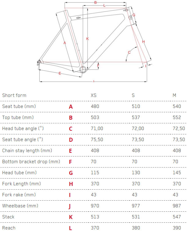 Focus Cayo Donna Disc Geometry Chart