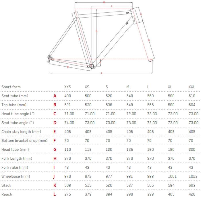 Focus Izalco Max Ultegra Geometry Chart
