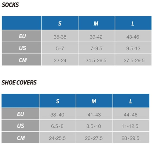 Giant shoe cover sizing chart