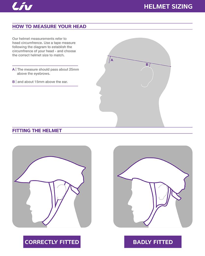 Liv helmet sizing chart