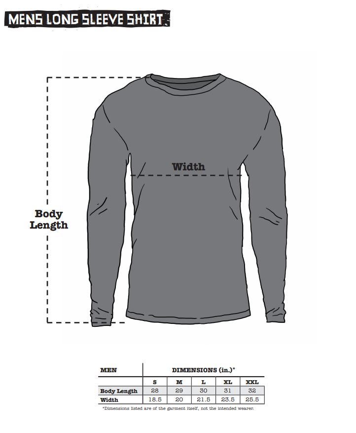 Surly Men's Short Sleeve Shirt sizing chart