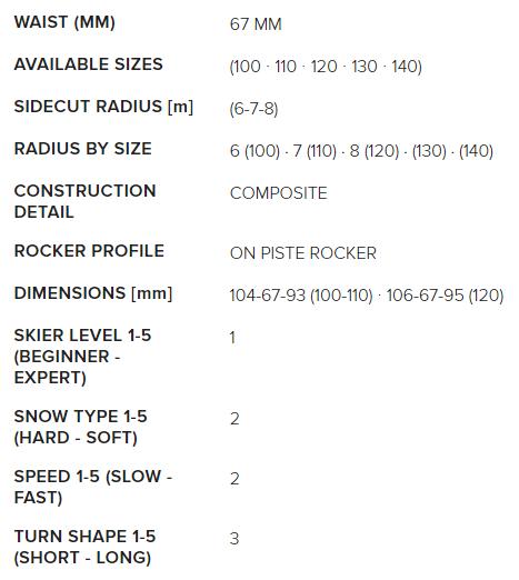 Navigator Team FDT 100-140 dimensions