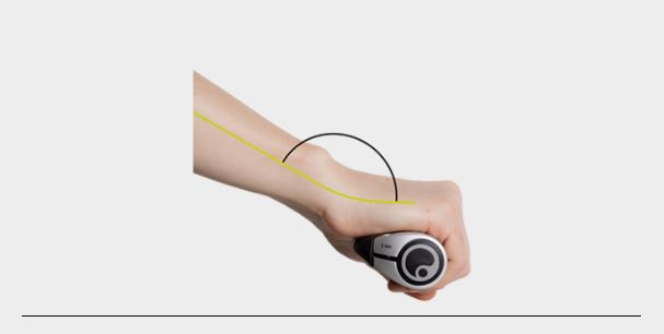 Optimized hand positioning with Ergon grips