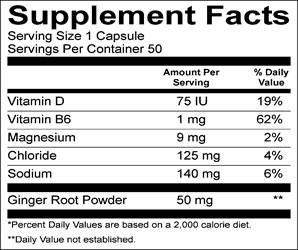 GU's Roctane Electrolyte Capsules nutritional information