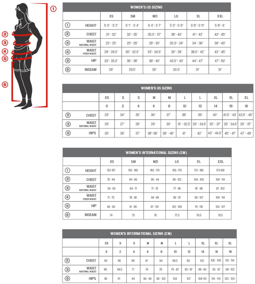 Specialized womens sizing chart