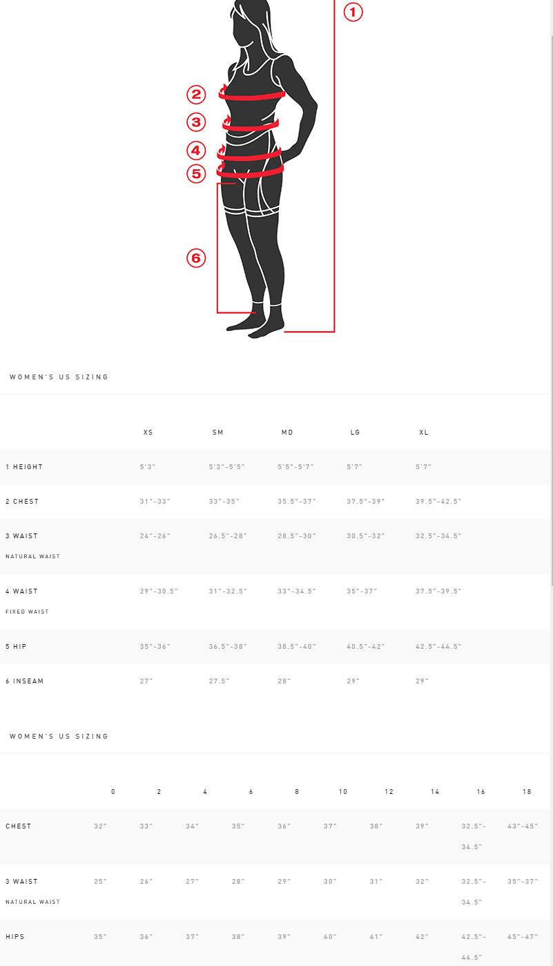 Specialized Women's SL Pro Short Geometry Chart