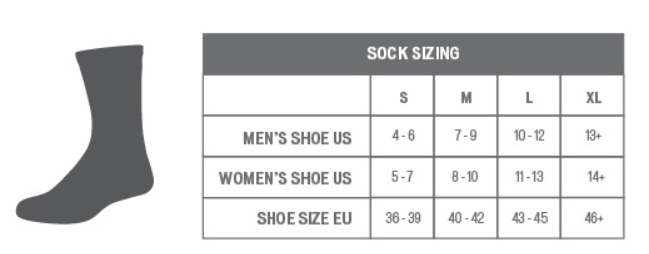 Specialized sock sizing chart