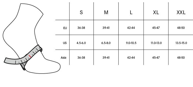 Gore Shoe sizing chart