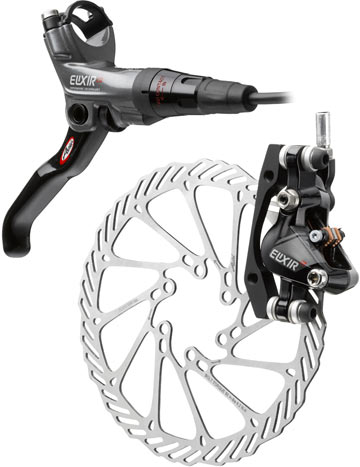 The Avid Elixir CR Hydraiulic Disc Brake in Silver.
