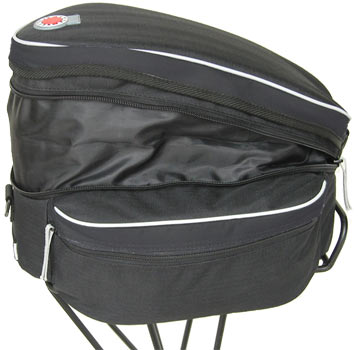 Banjo Brothers' Expanding Rack Top Bag.