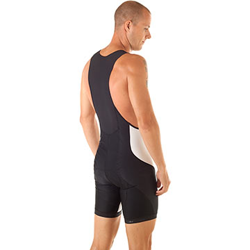 The back of the Bellwether Forma Bib Shorts.
