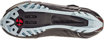 The sole of Bontrager's Race WSD mountain shoe.