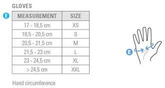 Castelli Size Chart
