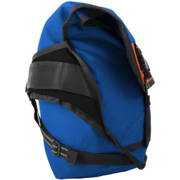 Side view of Chrome's Citizen Messenger Bag in Blue.
