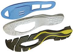Shimano Click'r shank, midsole, sole