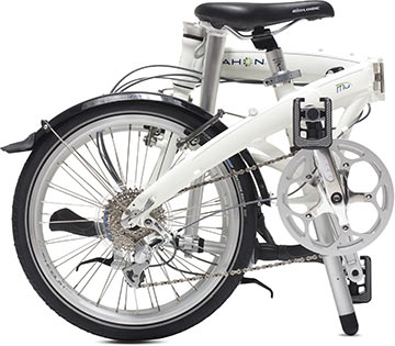 Dahon's Mu P8 in the folded position.
