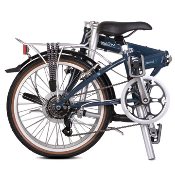 Dahon's Speed D7 in the folded position.