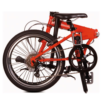 Dahon's Speed P8 in the folded position.