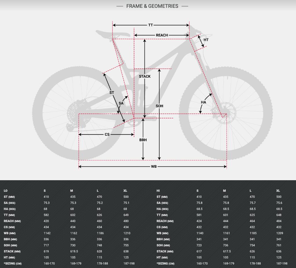 Devinci Django 29 Alloy geometry chart
