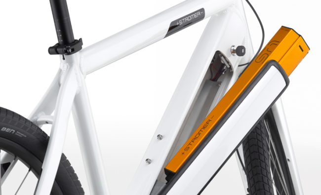 Stromer integrated battery
