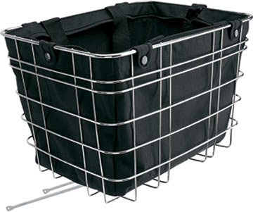 Electra's Black Bag Tote in the Cruiser Steel Basket.