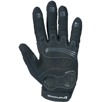 The palm of Endura's Singletrack glove in Black.