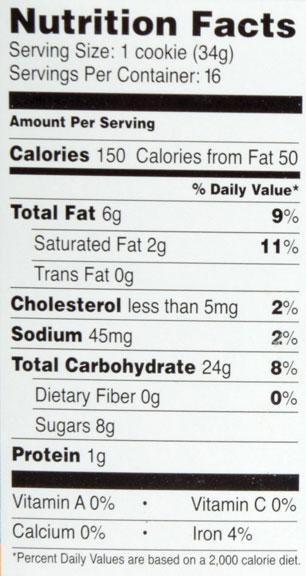 Eat Dutch Waffles nutritional information