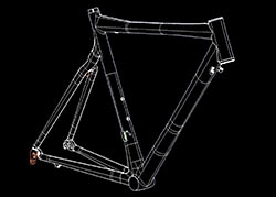 A line drawing of a Felt Carbon Frame