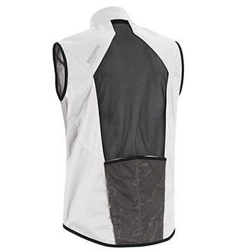 The back of Gore Bike Wear's Countdown AS Vest in White.