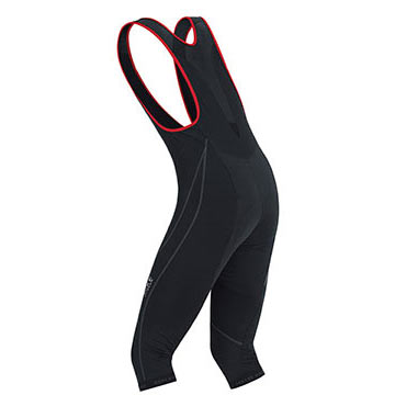 Back view of the Gore Oxygen WS Bib 3/4 Tights.