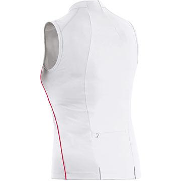 The back of Gore's Phantom Summer Lady Singlet in White.