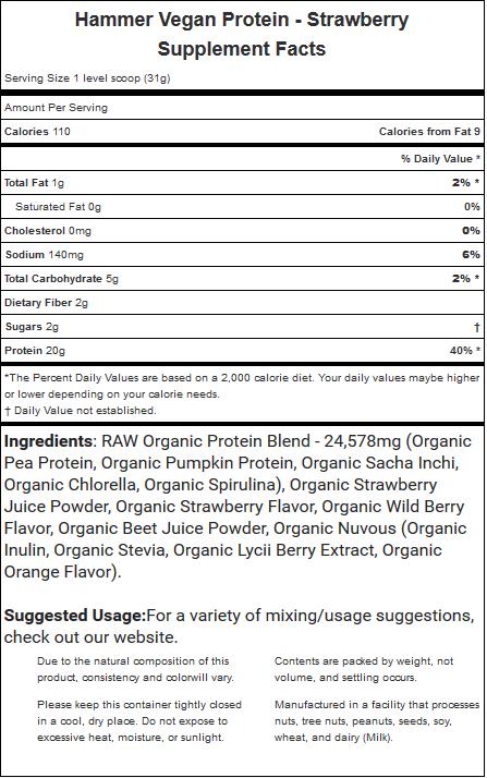 Hammer Nutrition Vegan Protein